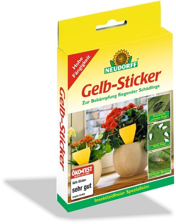 Gelbsticker neudorff for Gelb karten gegen fliegen