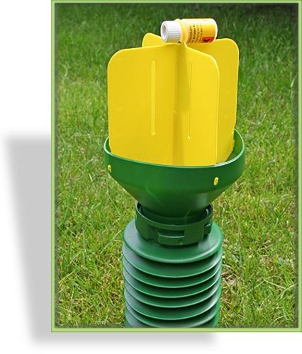 Gartenlaubk fer falle for Gelbtafeln gegen zikaden