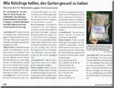 Pflanzenschutzmittel n tzlinge d nger sch dlingsbek mpfung for Zeitung gartenidee